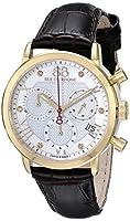 88Rue Du Rhone Women 's 87wa130028ダブル8原点アナログディスプレイスイスクォーツブラウン腕時計