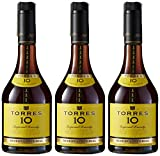 Torres 10, Brandy - 3 botellas de 70 cl, Total: 2100 ml