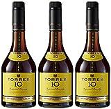 Torres 10, Brandy - 3 botellas de 70 cl, Total: 2100 ml