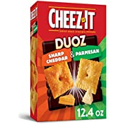 Cheez-It DUOZ Baked Snack Cheese Crackers, SharpCheddar and Parmesan, 12.4 oz Box