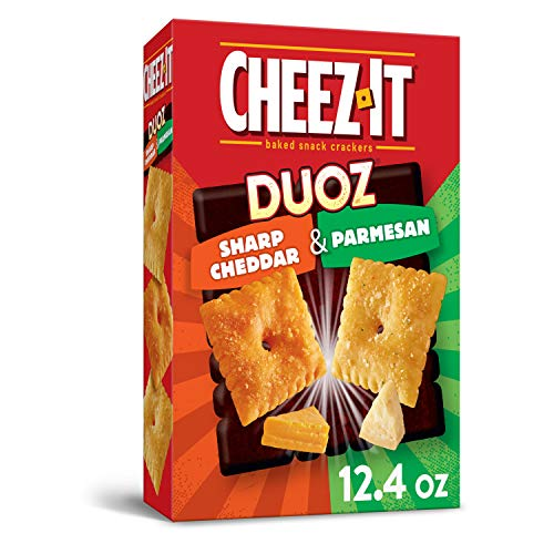 Cheez-It DUOZ Baked Snack Cheese Crackers  Sharp?Cheddar and Parmesan  12.4 oz Box
