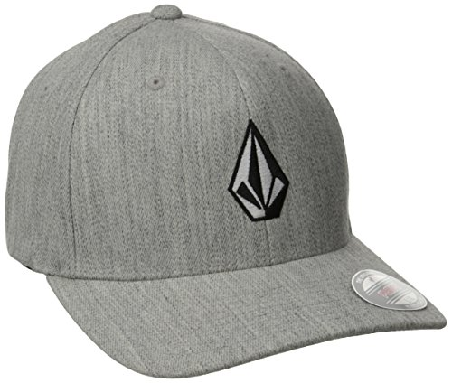 Volcom HTHR Casquette chinée Full Stone Xfit Homme, Grey Vintage, FR : L (Taille Fabricant : L/XL)
