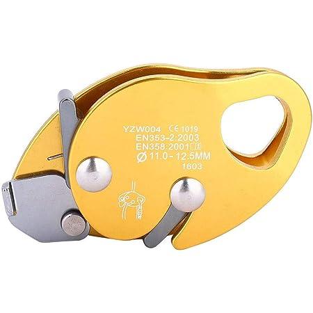 Pinza para Cuerda de Escalada, Freno automático Stop Descender para 11-12.5mm Pinza para Abrazadera de Cuerda Rescate Anillo de Rappel Engranaje de ...