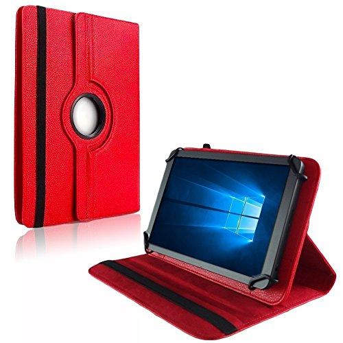 NAUC Tablet Hülle für Blaupunkt Atlantis Discovery 1001A Tasche Schutzhülle Hülle Cover, Farben:Rot