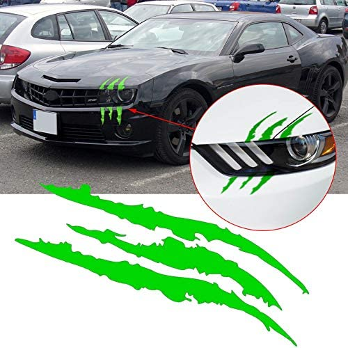 Xotic Tech 12 Vinyl Green Headlight Taillight Scar Scratch Graphics Decal Monster Claws Stripe product image