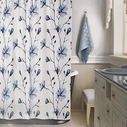 cortinas baño color azul