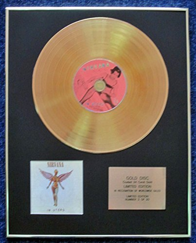 Nirvana – Limited Edition CD rivestito in oro 24 carati LP Disc – in utero