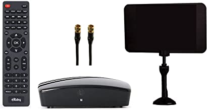 eXuby Digital Converter Box for TV - Digital Antenna - RF & RCA Cable - Complete Bundle to View and Record HD Channels (In...