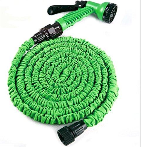SHISHANG Nettoyeurs de voiture Ensemble de lavage de voiture Anti-température Imitation Latex Tuyau télescopique 3 fois Tiempos Télescopique Pistolet à eau haute pression Jardin Voiture de lavage Bleu vert , green 50ft
