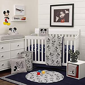 crib bedding and baby bedding disney mickey mouse 6 piece nursery crib bedding set