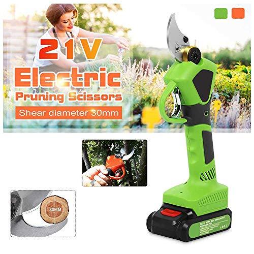 AWJ électriques de diamètre de Coupe, Cisailles d'élagage Sécateur de Branche d'arbre 21 V, Ciseaux de Coupe de Jardin Rechargeables, Coupe-