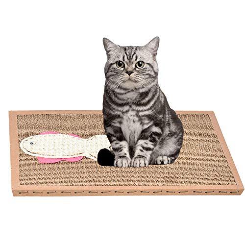 afdg Scratcher per Gatti, Cartone Scratcher per Gatti, Cartone di Artiglio di Macinazione di Gatto con Erba Gatta Biologica per Artigli Macinatori di Gatto, Riposo, Protezione di Divani e Mobili