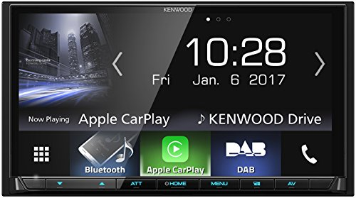 Kenwood DMX7017DABS AV-receiver met 17,7 cm touchscreen, DAB+, Bluetooth, Apple CarPlay, Android Auto, USB, 4 x 50 watt, zwart