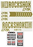 Ecoshirt 8M-PRL7-8NIT Pegatinas Stickers Fork Rock Shox Lyrik 2018 Am176 Aufkleber Decals Autocollants Adesivi Forcela, Oro