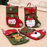 Ooscy Calcetines de Navidad, 4 unidades, con...
