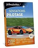 Wonderbox – Coffret Cadeau Homme- SENSATIONS PILOTAGE - 2550 stages de pilotage en Ferrari F458, Lamborghini Gallardo, Porsche, Aston Martin pour 1 à 4 personnes sur des circuits mythiques