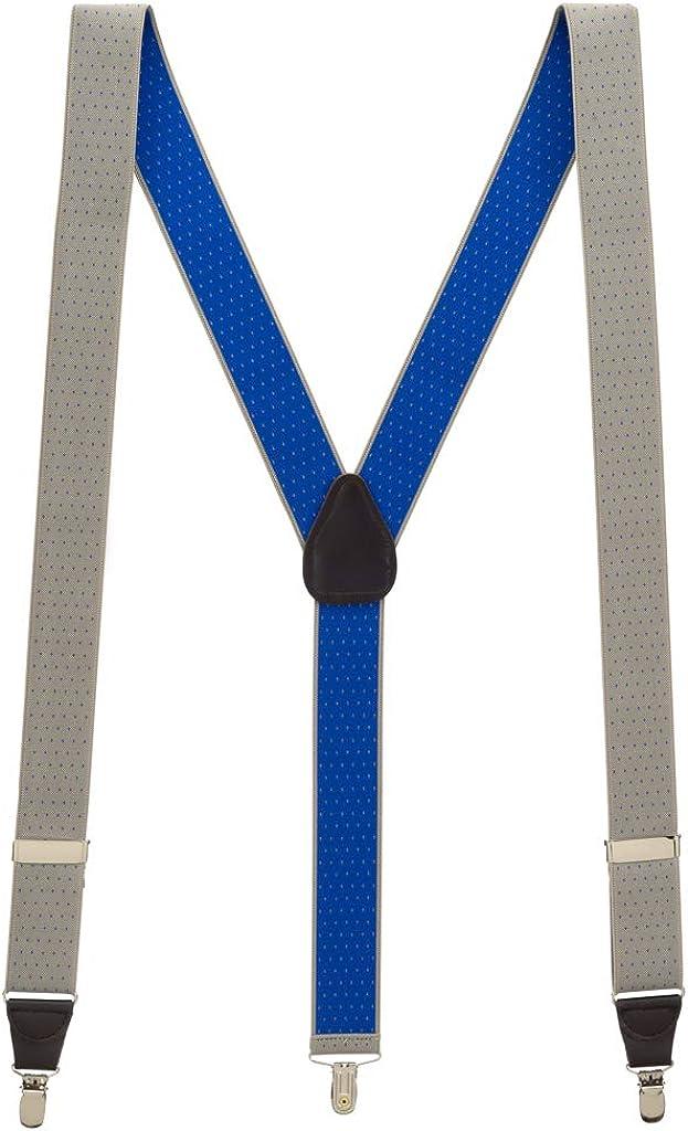 Men's Woven Pin Dot Clip Suspenders