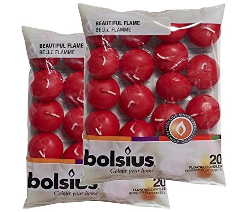 Bolsius Floating Candles x 40 in Wine Red