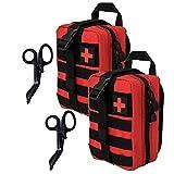 Krisvie Tactical EMT Medical - Bolsa de Nailon 1000D con Parche de Primeros Auxilios (Rojo*2)