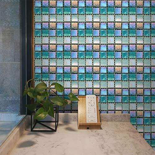 Mosaik Fliesenaufkleber Selbstklebende Klebefolie 3D Fliesen Sticker Aufkleber Klebefliesen Fliesendekor Fliesenfolie Bordüre Fliesenfolie Fliesen Mosaikfliesen Wasserdicht Küche Badezimmer (B)