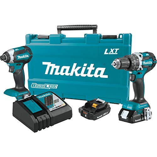 Makita XT269R 2 Amp 18V Compact LXT Lithium-Ion Brushless Cordless Combo Kit (2 Piece)