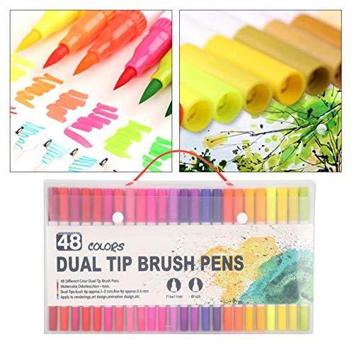 48 bolígrafos, seguros e inofensivos, para dibujar caligrafía, dibujar, colorear, regalos escolares para estudiantes