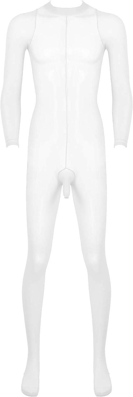 Aiihoo Mens Sheer Mesh Open Penis Full Body Stockings Pantyhose Sheath Footed Tights Leggings Bodysuit