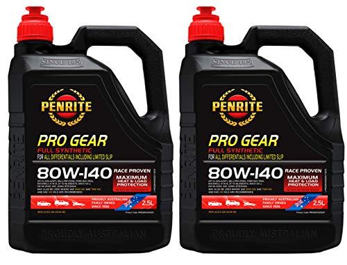 Penrite PRO Gear 80W-140 GL5 GL6 Olio Completamente Sintetico per Ingranaggi Incluso Limited Slip, 5 Lit