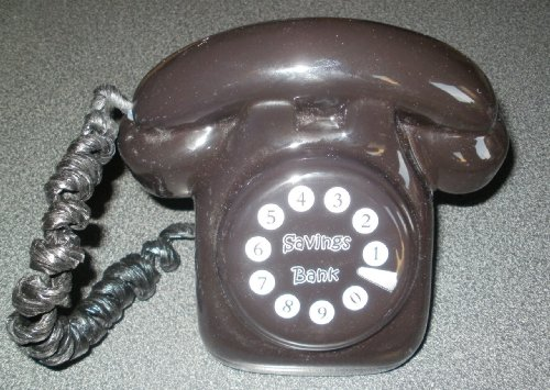 Unbekannt Spardose in Telefonform, traditionelles Design, Schwarz