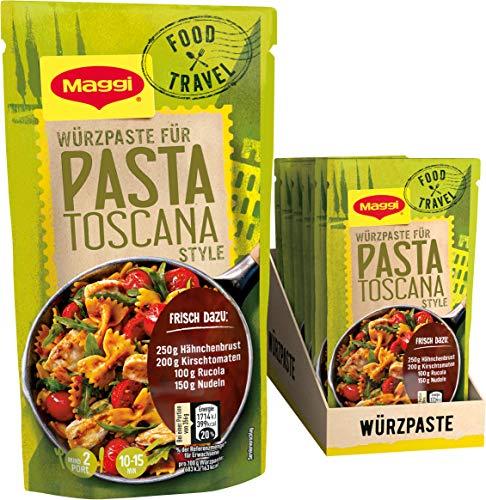 Maggi Food Travel Würzpaste Pasta Toscana Style (Ohne Konservierungsstoffe, Vegetarisch), 10er Pack (10 x 65g)