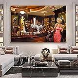 HAOOMOSP Lienzo decorativo para pared, 50 x 70 cm, sin marco, Marilyn Monroe, Elvis Presley, James Dean, Pop Retrato, arte para pared, póster de grafiti para dormitorio