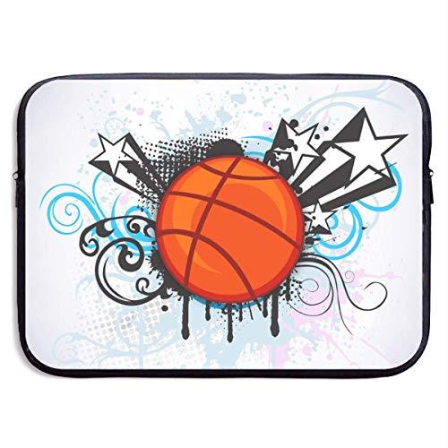 Funda Impermeable para portátil de 15 Pulgadas, maletín de Negocios con Estampado de Baloncesto Deportivo Abstracto, Funda Protectora, Funda para Ordenador BAG-5068