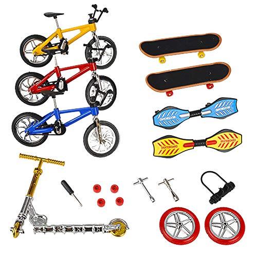 Mini Pädagogische Spielzeug-Sets, Simulation Mini Finger Bikes Skateboard Set Pädagogisches Spielzeug Fingerspitzen Bewegung Abnehmbar, Reconfigurierbar, Austauschbar