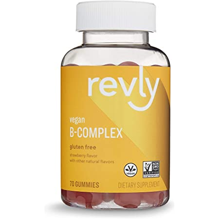 Amazon Brand – Revly B-Complex, Supports Immune and Normal Energy Metabolism, 70 Gummies, 70-Day Supply, Vegan, Non-GMO