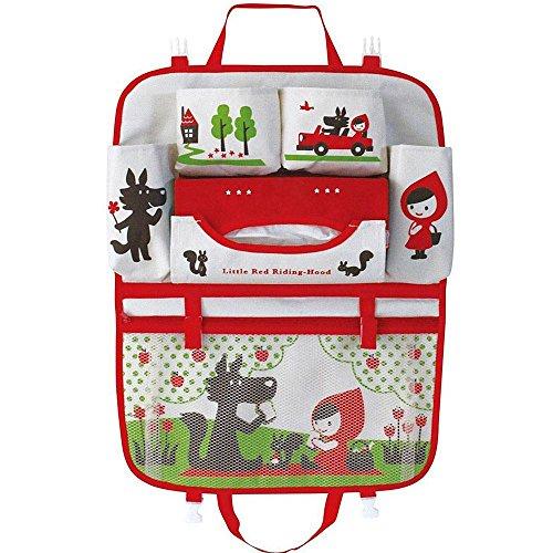 Teepao - Contenitore per il sedile posteriore dell'auto, con disegni, per riporre accessori e oggetti di neonati e bambini