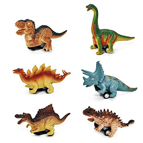 Dinosour Toys for 2-6 Year Old Boys, Pull Back Dinosour Cars for Boys...