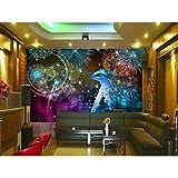Fondo De Pantalla Mural Fotográfico En Hd Hotel Colorful Club Ktv Fondo Decoración Para El Hogar Mural De Pared 3D Fondos De Pantalla 300X210Cm