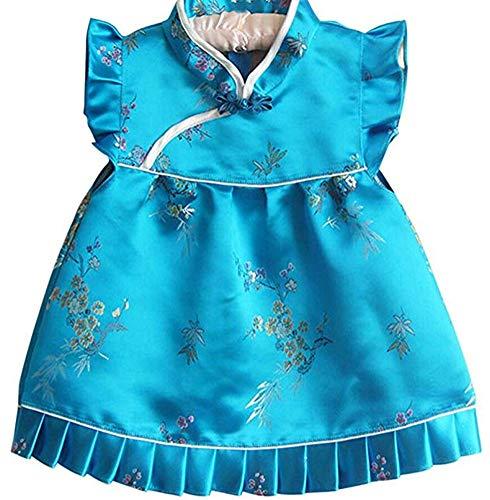 CRB moda para bebé niñas Qipao celebración chino nuevo años disfraz de Asia Set vestido Outfit - -