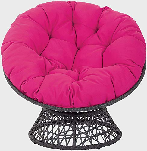 MSM Furniture Overstuffed Papasan Chair Cushion,tufted Swing Rattan Chair Cushion,round Cushion Thick Comfortable Oversized Papasan Pad Rose Red 120x120cm(47x47inch)