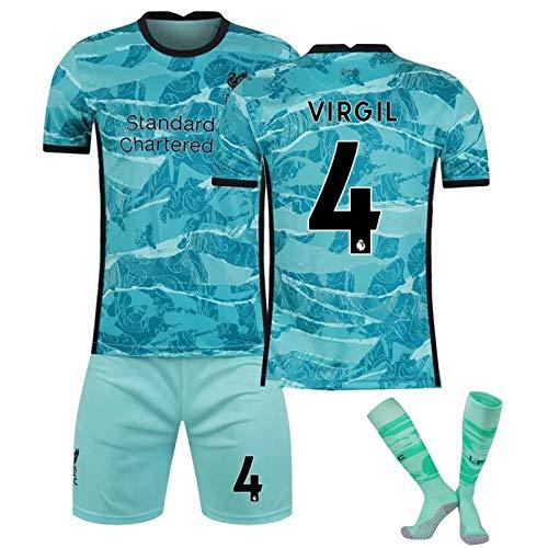 CFLL Liverpool FC Jersey T-Shirt, 2021 Gift Mens Liverpool Away FC Jersey Fans Loungewear,Virgil 4,16