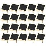 20Pcs Mini panneaux de tableau en bois, Mini panneaux de tableau avec support de chevalet pour mariages, fêtes d'anniversaire, panneaux de message
