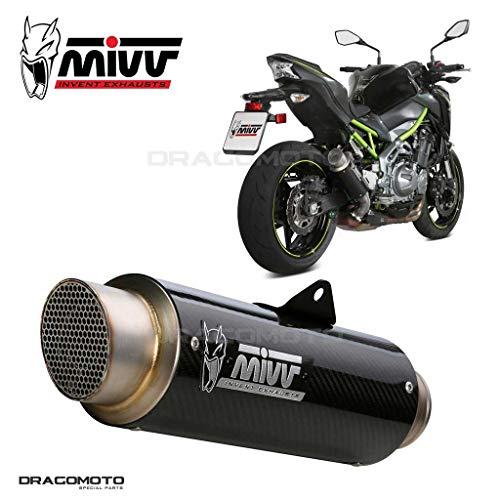 Motodak - Silenciador MIVV GP-Pro, carbono, cubierta de acero inoxidable, Kawasaki Z900