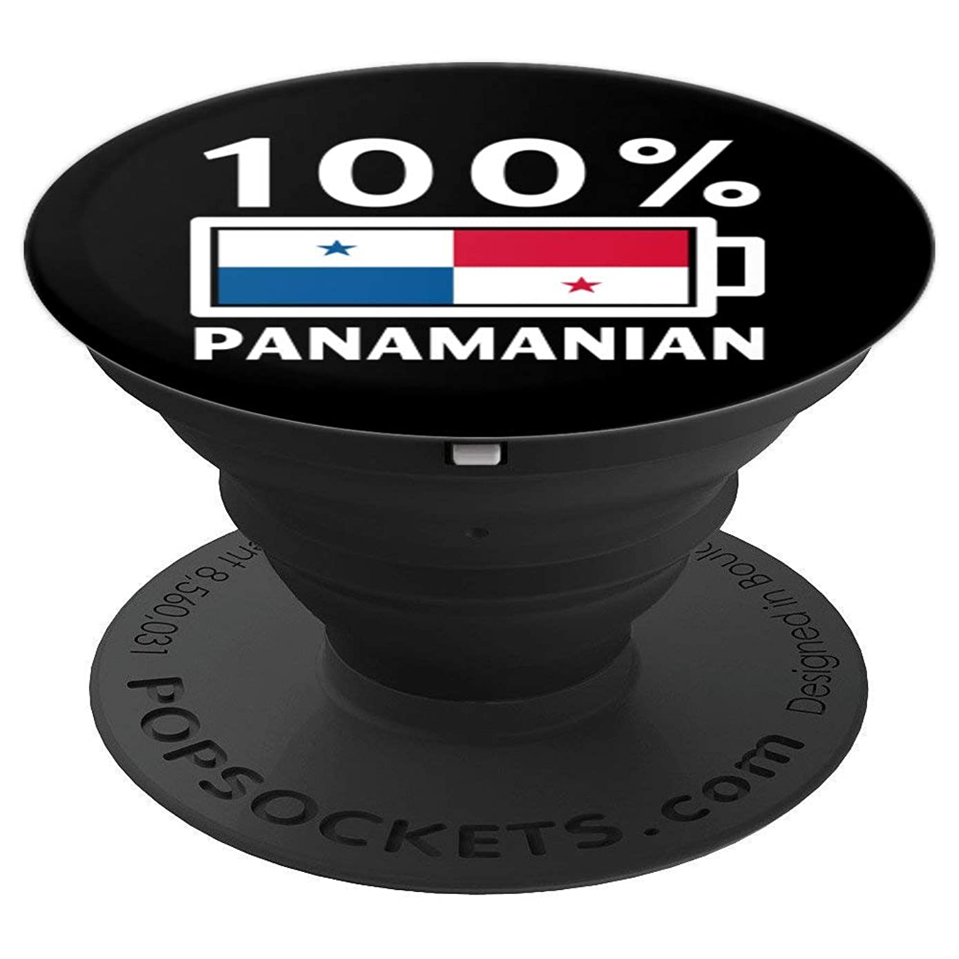 Panama Flag Design | 100% Panamanian Battery Power Tee - PopSockets Grip and Stand for Phones and Tablets