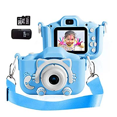 Kids Camera for Girls Birthday Gifts HD 2.0 Inches IPS Screen Kids Video Camera Anti-Drop Children Selfie Toy Camera Child Dightal Camera for 3-14-Year-Old with Safe Soft Silicone Case from Shen zhen Teng You Technology
