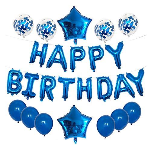 Yinyimei Balloon Blue letter happy birthday balloon birthday party decoration children adult foil balloon alphabet balloons latex balloon helium (Farbe : Mint Grün)