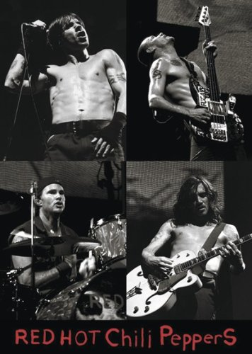 Close Up Póster Red Hot Chili Peppers - Live Collage [b/w] (61cm x 86