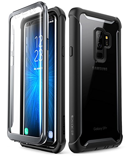 i-Blason Cover Samsung S9+ Plus, Custodia Rigida con Protezione per Schermo [Serie Ares] TPU Bumper Rugged Case Compatibile con Samsung Galaxy S9 Plus 2018, Nero