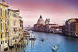 Becko Jigsaw Puzzle Venice Water City View - Rompecabezas de 1000 piezas para adultos adolescentes y niños con póster de 1:1 29.5 x 19.7 pulgadas, vista de la ciudad, regalo para aliviar el estrés