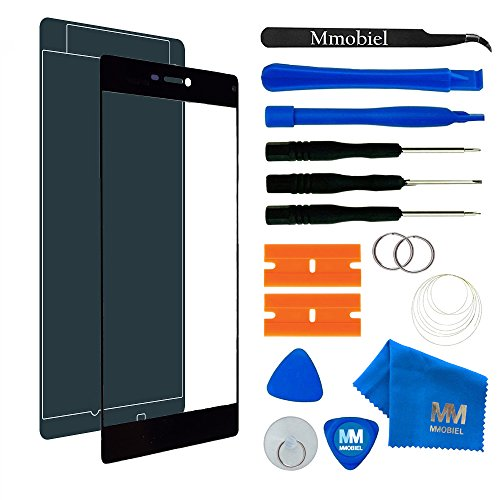 MMOBIEL Front Glas Reparatur Set kompatibel mit Huawei P8 Series (Black) Display Touchscreen mit Werkzeug-Set