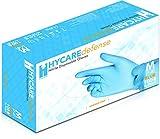 Hycare Medical Gants jetables en poudre nitrile bleu taille M (100 pièces)